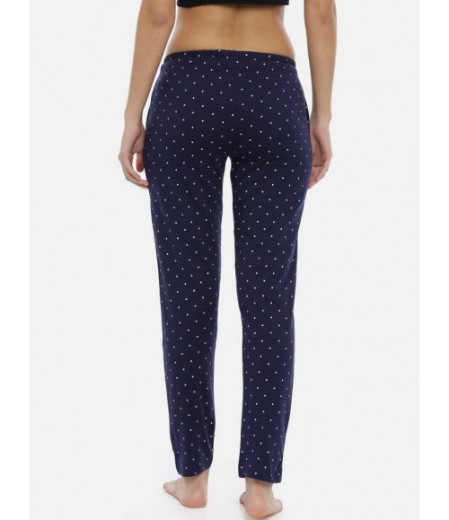 3 PIN WOMENS TRACKPANT NAVY AOP WTP06