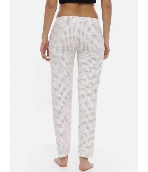 3 PIN WOMENS TRACKPANT WHITE AOP WTP04