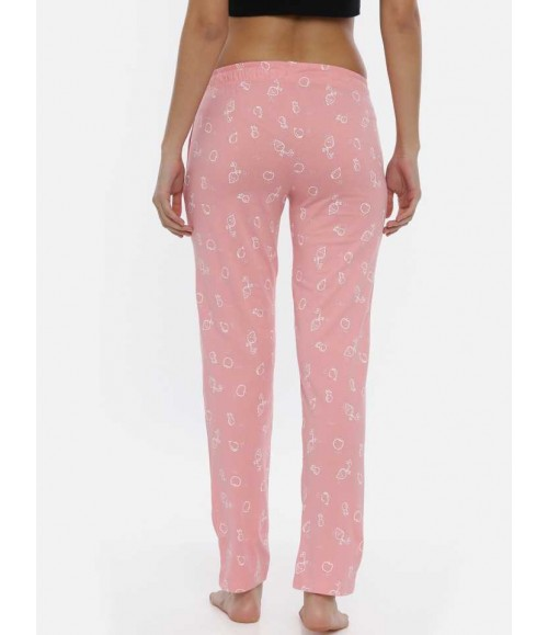 3 PIN WOMENS TRACKPANT FUSCHIA AOP WTP05