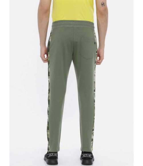 3 PIN MEN SOLID FIT GREEN JOG PANT SS20M