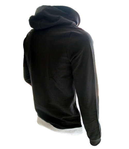 3 PIN MEN BLACK & MELANGE HOODIES SWEATSHIRT ST013B
