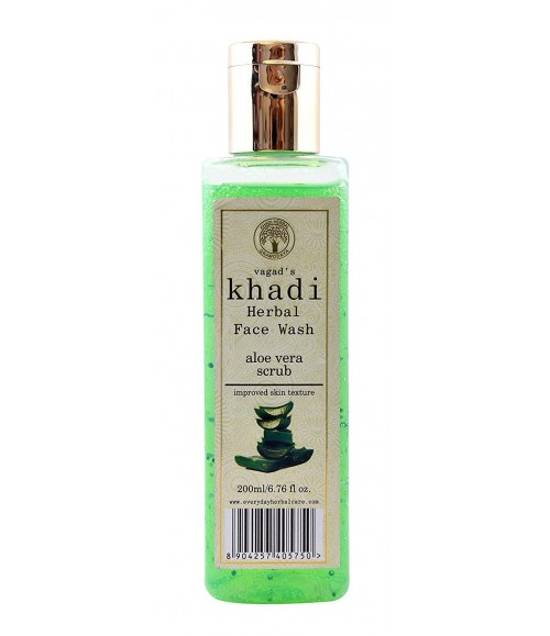 KHADI  HERBAL ALOE VERA SCRUB FACE WASH