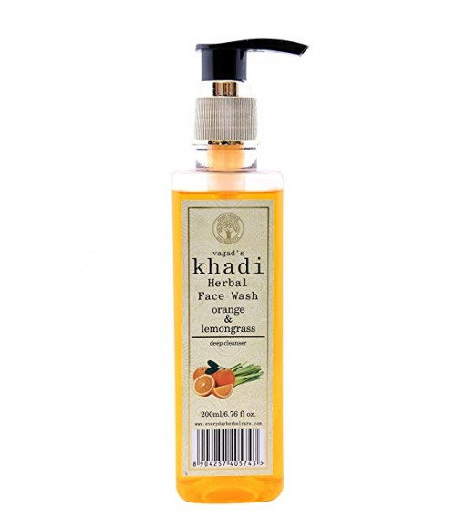 KHADI HERBAL ORANGE & LEMONGRASS FACE WASH