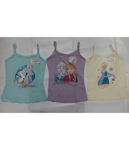 BODY CARE FROZEN PRINT GIRLS VEST 954 (PACK OF 3)
