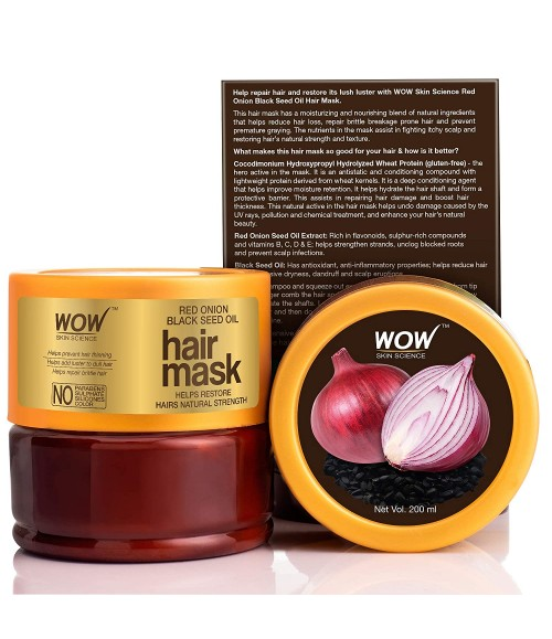 WOW RED ONION BLACK SEED OIL HAIR MASK