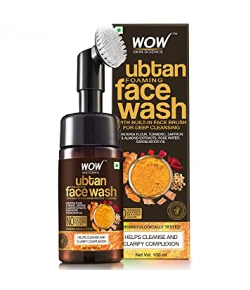 WOW UBTAN FOAMING FACE WASH WITH BUILT-IN FACE BRUSH