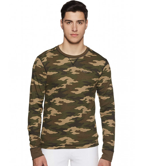 WOODLAND MEN WARM CAMOUFLAGE SWEATSHIRT IWTFR001