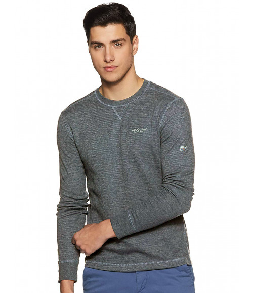 WOODLAND MEN WARM CHARCOAL HEATHER SWEATSHIRT IWTFR003