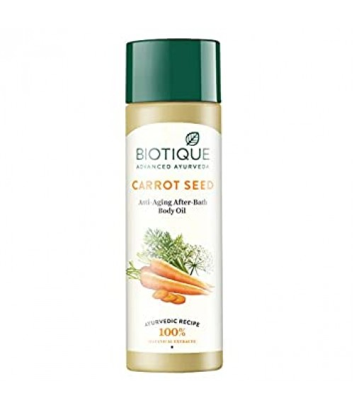 BIOTIQUE BIO CARROT SEED ANTI-AGEING AFTER-BATH BODY OIL