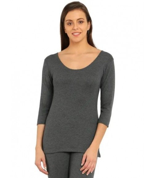 JOCKEY WOMENS THERMAL 1/3 SLEEVE TOP 2503