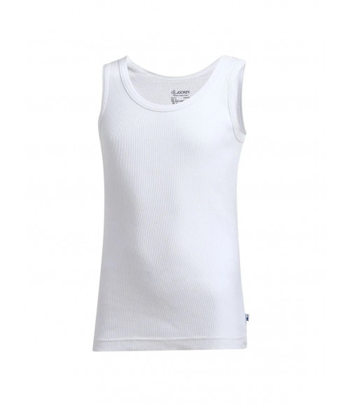 JOCKEY BOYS WHITE VEST 3321 (PACK OF 2)
