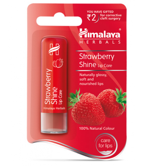HIMALAYA HERBALS LIP BALM STRAWBERRY SHINE